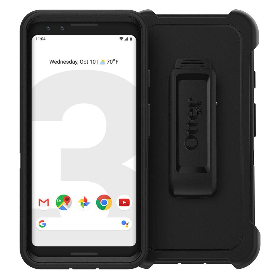 best service bc72c 99aef OtterBox Defender Case for Google Pixel 3 (Black)